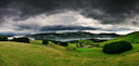 Panoramic view over Dunedin, New Zealand.